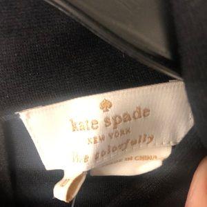 Kate Spade black mock turtle neck with gold zip